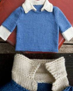 Knitted baby dress, vest, cardigan, sweater, overalls patterns (183)