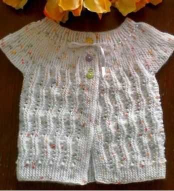 Knitted baby dress, vest, cardigan, sweater, overalls patterns (204)
