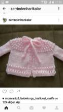 Knitted baby dress, vest, cardigan, sweater, overalls patterns (218)