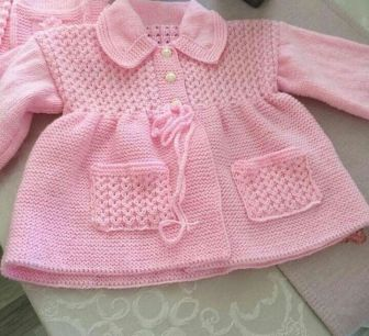 Knitted baby dress, vest, cardigan, sweater, overalls patterns (249)