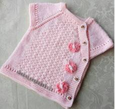 Knitted baby dress, vest, cardigan, sweater, overalls patterns (257)