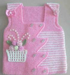 Knitted baby dress, vest, cardigan, sweater, overalls patterns (275)