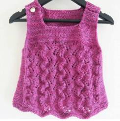 Knitted baby dress, vest, cardigan, sweater, overalls patterns (281)