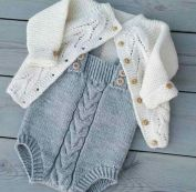 Knitted baby dress, vest, cardigan, sweater, overalls patterns (296)