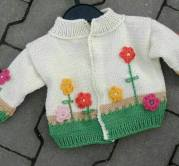Knitted baby dress, vest, cardigan, sweater, overalls patterns (721)