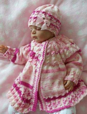 Knitted baby dress, vest, cardigan, sweater, overalls patterns (736)