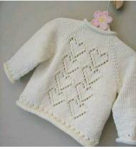 Knitted baby dress, vest, cardigan, sweater, overalls patterns (742)
