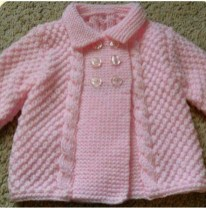 Knitted baby dress, vest, cardigan, sweater, overalls patterns (750)