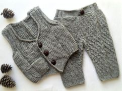 Knitted baby sweater, vest patterns (21)