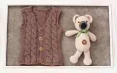 Knitted baby sweater, vest patterns (22)