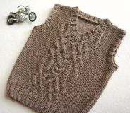 Knitted baby sweater, vest patterns (67)