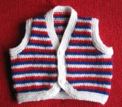 Knitted baby sweater, vest patterns (69)