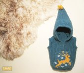 Knitted baby sweater, vest patterns (81)