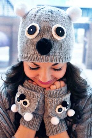 care to cuddle koala bear hat and mittens knitting pattern 2