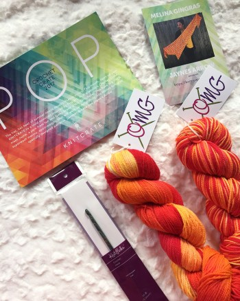 knitcrate crochet box contents july 2017