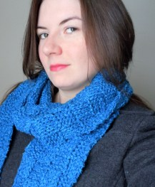 Blue Box Knit Scarf