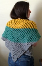 Finished Crochet Summer Shawl 3