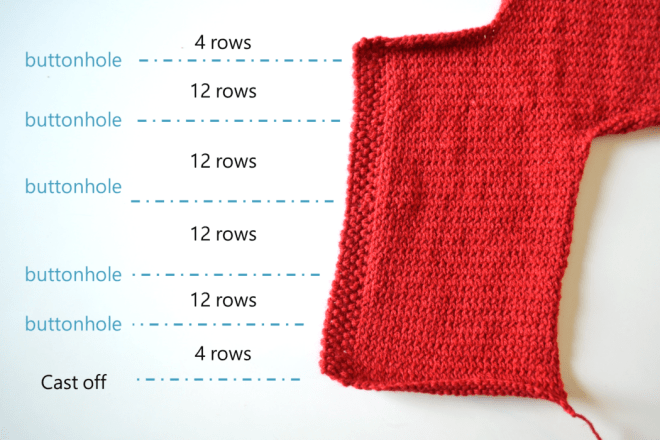 Capucine's baby cardigan free knitting pattern step 11