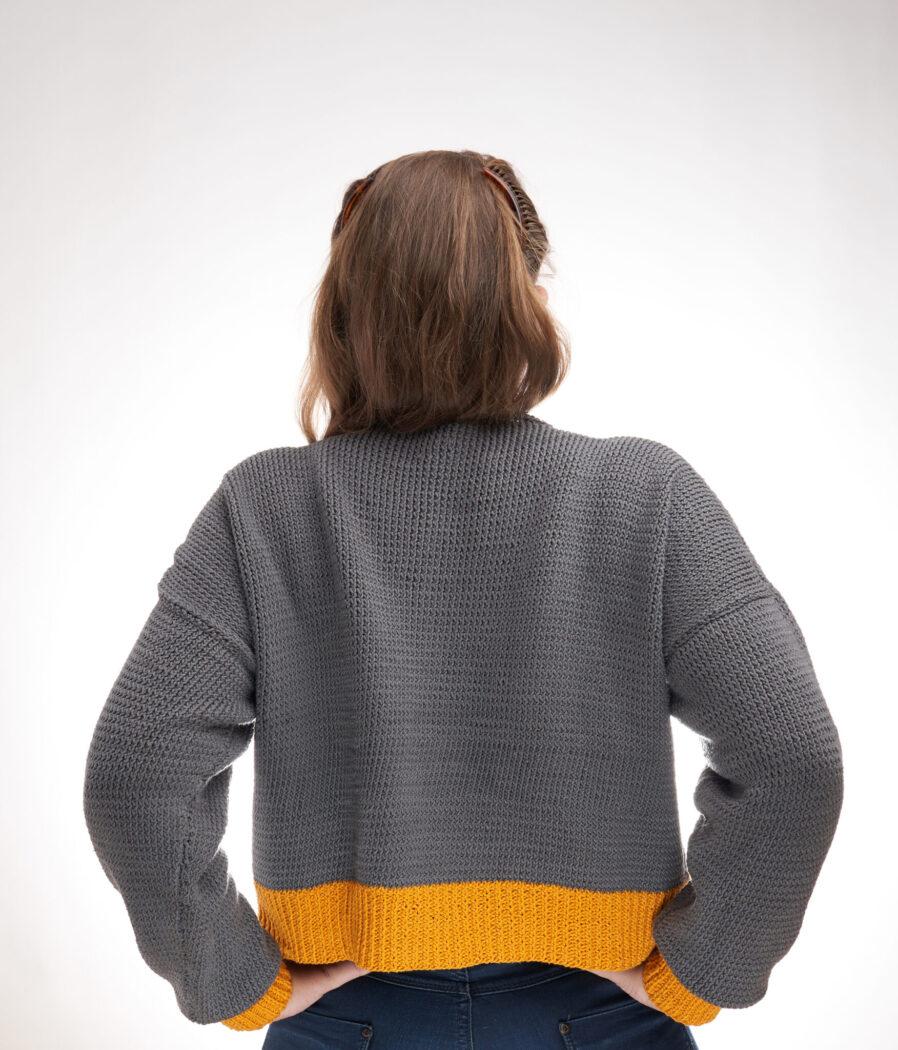 Sunshine Crop Sweater Free Knitting Pattern