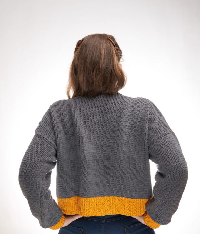 Sunshine cropped sweater knitting pattern FREE
