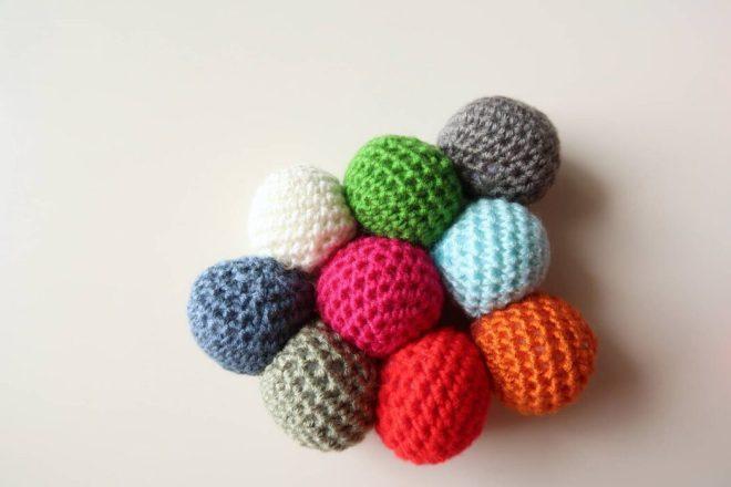 crochet potholder pattern assembling the balls
