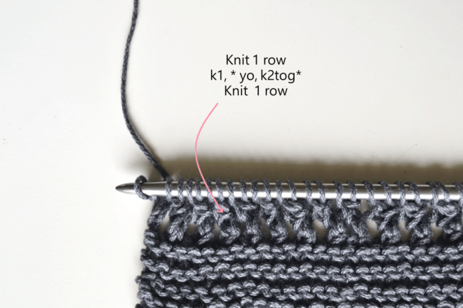 easy knitted scarf pattern step 3