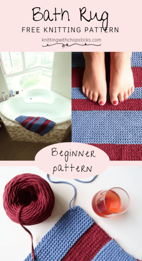 Bathroom Ideas: bath mat diy knitting pattern