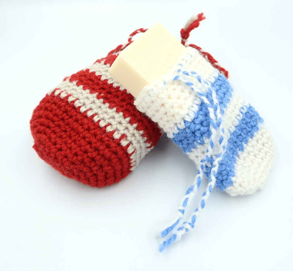 Crochet Soap Saver by Knitting with Chopsticks