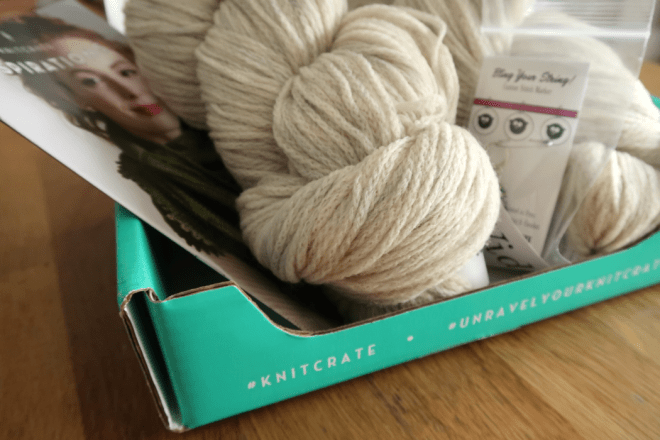 Knitcrate yarn subscription boxes are great gifts for a crafter
