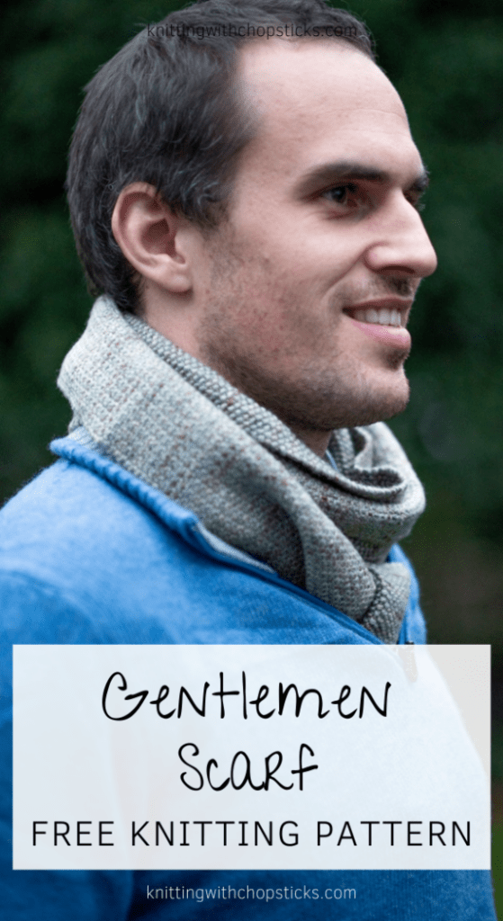 Gentlemen Scarf Knitting Pattern FREE