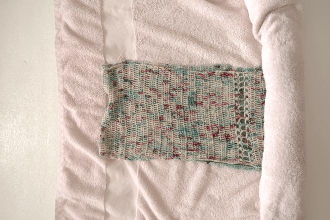 Why block crochet: roll it in a clean towel