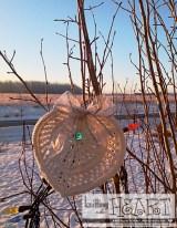 heart dishcloth tree decor