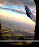 prairie patchwork landscape aerial sunrise view