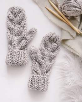 Knit Mittens, Chunky Mitts ⨯ KNITTING PATTERN