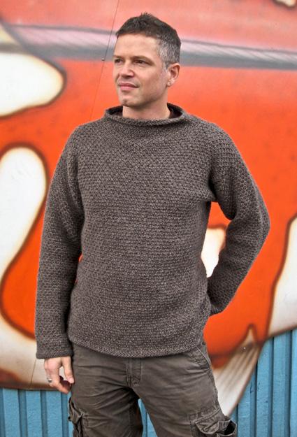 Funnel Neck Sweater Knitting Pattern