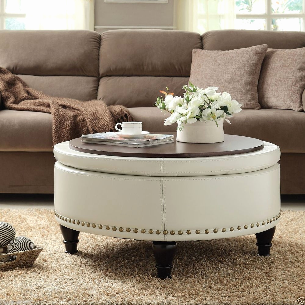 Large Leather Ottoman Table