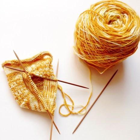 Garden Stroll Sock in marigold Garden Yarn