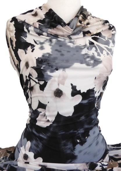 Knitwit Printed Jersey Knit Susanna Beige Grey