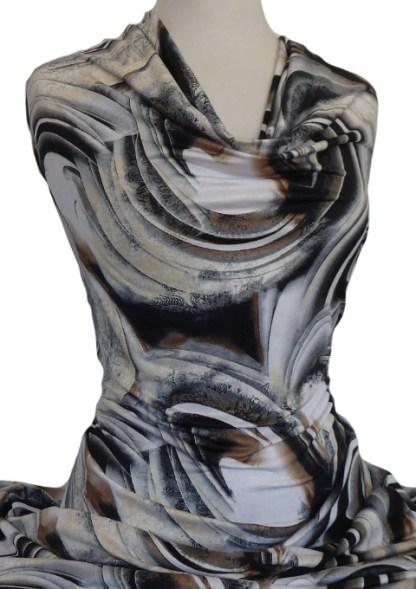 Printed Jersey Knit Swirl