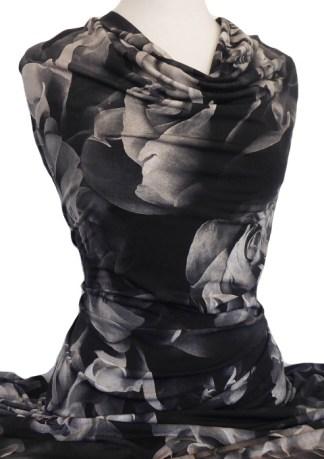 Printed Jersey Knit Amanda Black Taupe