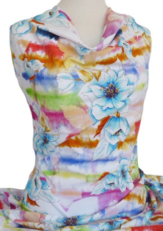 Knitwit Printed Cotton Jersey Bright Morning