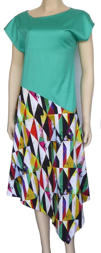 Burda Pattern 6352 - Knitwit Printed Cotton Jersey Harlequin