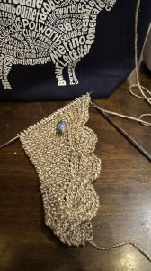 Knitting wip shawl