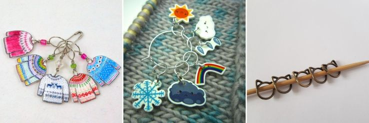 Stitch markers found on ETSY