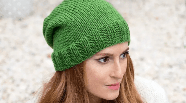 flat knit hat from Gina Michele
