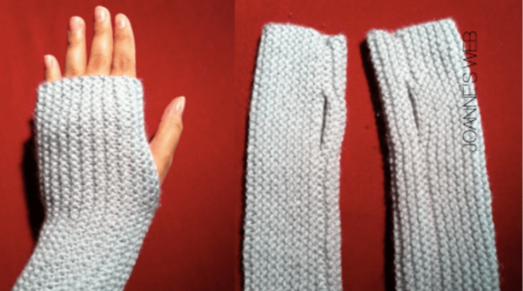 Fingerless gloves from Joanne's web