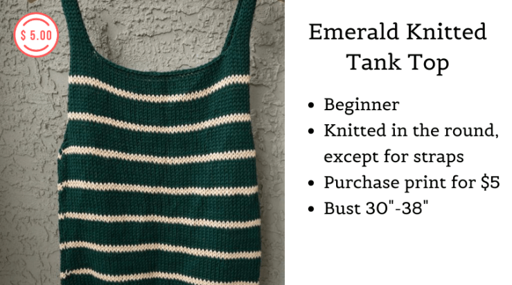 Emerald Knitted Tank top