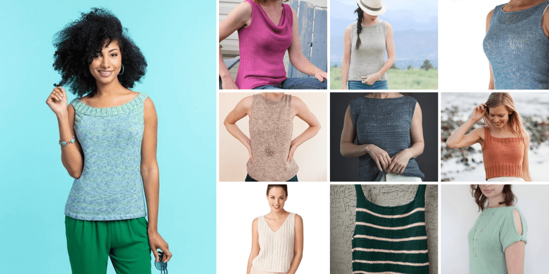 A selection of summer top knitting patterns