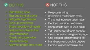 The ABCs of A/B Testing Webinar Dos/Don'ts