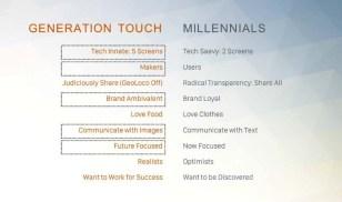 Generation Touch vs. Millennials
